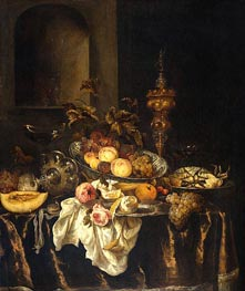 Still Life, c.1665 by Abraham Beyeren | Painting Reproduction