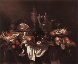 Banquet Still-Life, c.1655 by Abraham Beyeren | Painting Reproduction