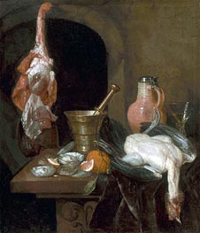 Preparations for a Meal, 1664 by Abraham Beyeren | Painting Reproduction