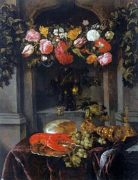 Pronk Still Life (Glorification of Wine), c.1650 by Abraham Beyeren | Painting Reproduction