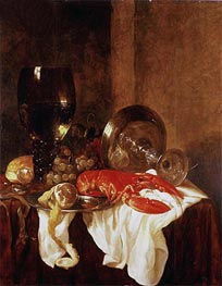 Still Life with a Lobster | Abraham Beyeren | Gemälde Reproduktion