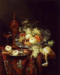 Still Life with Fruit, c.1660 by Abraham Beyeren | Painting Reproduction