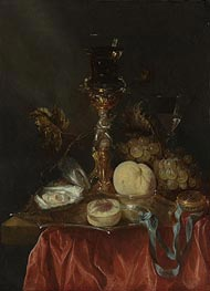 Still Life with a Silver Gilt Cup with a Roemer, Undated von Abraham Beyeren | Gemälde-Reproduktion