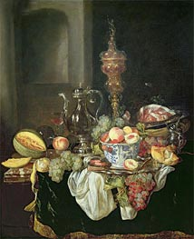 Still Life - Banquey Piece, Undated by Abraham Beyeren | Painting Reproduction