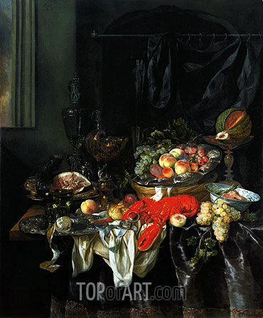 Still Life, 1666 | Abraham Beyeren | Painting Reproduction