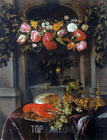 Pronk Still Life (Glorification of Wine), c.1650 | Abraham Beyeren | Gemälde Reproduktion