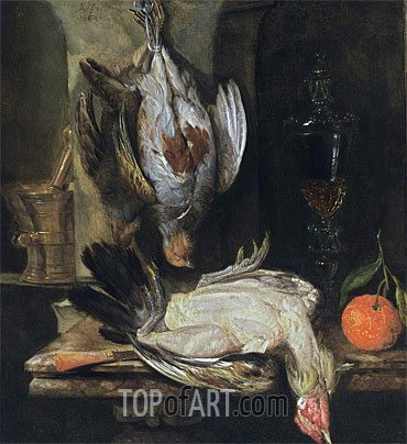 A Still Life with a Partridge, 1664 | Abraham Beyeren | Painting Reproduction