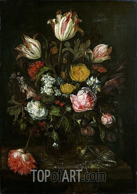 Still Life with Flowers, 1670 | Abraham Beyeren | Painting Reproduction