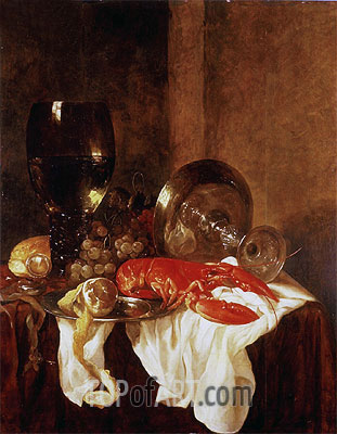 Still Life with a Lobster, Undated | Abraham Beyeren | Painting Reproduction
