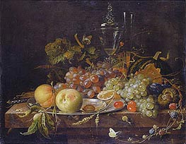 Still Life with Fruits, undated von Abraham Mignon | Gemälde-Reproduktion