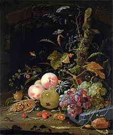 Still Life of a Forest Floor, undated by Abraham Mignon | Painting Reproduction