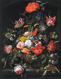 Summer Flowers, c.1660/80 by Abraham Mignon | Painting Reproduction