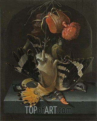 Still Life with a Hoopoe, undated | Abraham Mignon | Gemälde Reproduktion