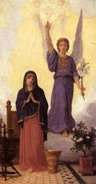 The Annunciation, 1888 by Bouguereau | Painting Reproduction