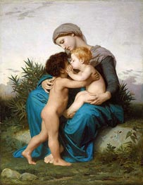 Fraternal Love, 1851 von Bouguereau | Gemälde-Reproduktion