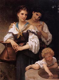 The Secret | Bouguereau | Painting Reproduction