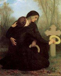Le jour des morts (All Saints' Day), 1859 by Bouguereau | Painting Reproduction