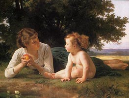 Temptation, 1880 by Bouguereau | Painting Reproduction