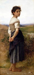 The Young Shepherdess, 1885 by Bouguereau | Painting Reproduction