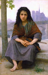 The Bohemian, 1890 von Bouguereau | Gemälde-Reproduktion