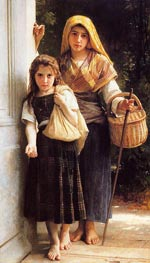 Les petites mendicantes (The Little Beggar Girls) | Bouguereau | Painting Reproduction