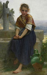 The Broken Pitcher, 1891 von Bouguereau | Gemälde-Reproduktion