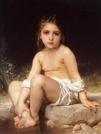 Child at Bath | Bouguereau | Painting Reproduction