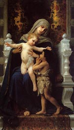 Madonna and Child with Saint John the Baptist | Bouguereau | Gemälde Reproduktion
