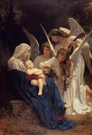 Song of the Angels, 1881 von Bouguereau | Gemälde-Reproduktion