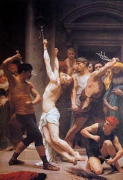 The Flagellation of Christ, 1880 by Bouguereau | Painting Reproduction