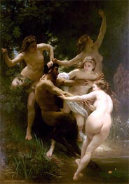 Nymphs and Satyr | Bouguereau | Painting Reproduction
