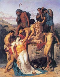 Zenobia Found by Shepherds on the Banks, 1850 von Bouguereau | Gemälde-Reproduktion