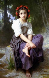 At the Edge of the River, 1875 von Bouguereau | Gemälde-Reproduktion