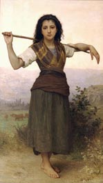 Pastourelle (Shepherdess) | Bouguereau | Painting Reproduction