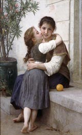 A Little Coaxing, 1890 von Bouguereau | Gemälde-Reproduktion