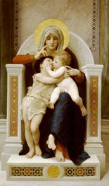 The Virgin, the Baby Jesus and St. John the Baptist, 1875 von Bouguereau | Gemälde-Reproduktion