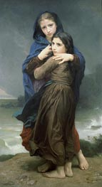 The Storm, 1874 by Bouguereau | Painting Reproduction