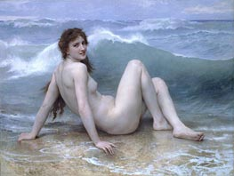 The Wave, 1896 by Bouguereau | Painting Reproduction