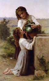At the Fountain, 1897 by Bouguereau | Painting Reproduction