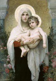The Madonna of the Roses, 1903 by Bouguereau | Painting Reproduction