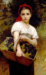 The Grape Picker, 1875 by Bouguereau | Painting Reproduction