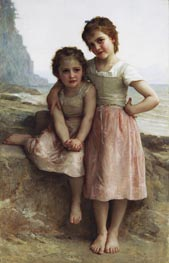 Sisters on the Shore (Sur la Greve), 1896 by Bouguereau | Painting Reproduction