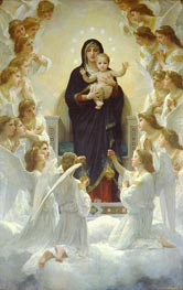 The Virgin with Angels, 1900 by Bouguereau | Painting Reproduction