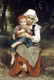 Breton Brother and Sister, 1871 by Bouguereau | Painting Reproduction