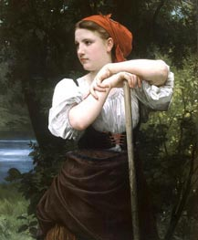 The Haymaker, 1869 by Bouguereau | Painting Reproduction