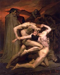 Dante and Virgil in Hell, 1850 von Bouguereau | Gemälde-Reproduktion