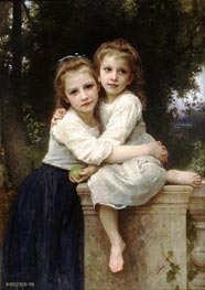 Two Sisters, 1901 by Bouguereau | Painting Reproduction
