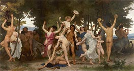The Youth of Bacchus, 1884 by Bouguereau | Painting Reproduction