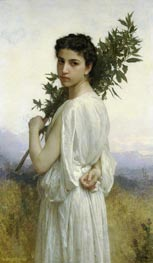 Laurel Branch, 1900 by Bouguereau | Painting Reproduction