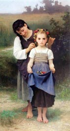 The Jewel of the Fields, 1884 by Bouguereau | Painting Reproduction